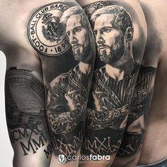 Ya está terminado y totalmente curado el brazo de @ainis1899 en homenaje al mejor jugador de la historia del fútbol @leomessi y a su club @fcbarcelona conmemorando también las fechas de las champion. Un placer Tío muchísimas gracias. #tattoo #tattooed #tattooartist #fcb #fcbarcelona #barça #barcelona #leomessi #messi #football #cosafinatattoo #carlosfabra #skin2paper @skin2paper #radiantcolors @radiantcolorsink #aloetattoo @aloetattoo