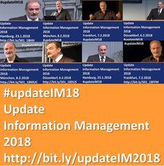 """Jahresauftaktseminar """"Update Information Management 2018"""" mit Dr. Ulrich Kampffmeyer udn Gastreferenten in Hamburg, Potsdam, Kassel, Düsseldorf, Frankfurt, München & Berlin. http://www.project-consult.de/termine/project_consult_update_information_management_2018 #ECM #EIM #DMS #Archivierung #BPM #WCM #ContentServices #IIM #Digitalisierung #IOT #Analytics #KI #AI #Bigdata #Cloud #Mobile #Disruption"""