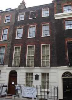 Benjamin Franklin's house at 36 Craven Street, London, built c1730. This Grade I-listed building is the only surviving home of Franklin anywhere in the world. It is owned and run by the Benjamin Franklin House Trust who reopened it in 2006, the 300th anniversary of Franklin's birth.