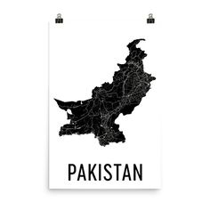 Pakistan Map, Map of Pakistan, Pakistan Art, Pakistani Decor, Pakistani Art, Pakistan Print, Pakistan Poster, Pakistan Wall Art, Gifts