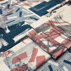 Laura Slater - Inspired by her use of grids and geometric shapes in her screen printed designs. Shapes have looser lines giving more characteristic to the geometric print.