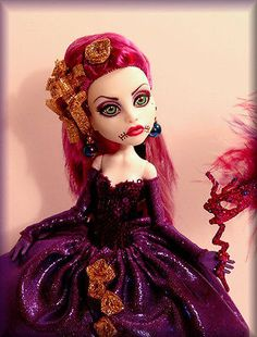 OOAK Monster High Repaint/Costume***~The Monster's Ball~***  by DAO