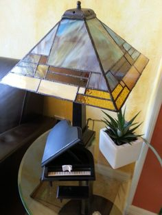 Stained glass mission / prairie lamp by Teresa Ochoa