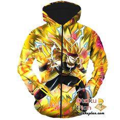 DBZ Fighting Saiyan Counterattack Super Saiyan 3 Bardock Zip Up Hoodie - Dragon Ball Z 3D Zip Up Hoodies And Clothing  #comic #merchandise #animelover #anime #animeboy #animeart #stuff