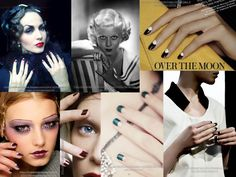 Happy Throwback Thursday Gelish MINI friends!  Today we are throwin' it back to the roaring 20's!  The popular nail style at this time was the half moon manicure, and it was mostly done in a crimson red shade.  Throw on those flapper dresses, style your nails with a moon manicure, and throw a party Gatsby style!  #1920s #collage #moonmanicure #flapper #gatsby Flapper Hair, 20s Flapper, Flapper Dresses, Flapper Style, Gatsby Wedding, Wedding Bells, Half Moon Manicure, Roaring 20s Fashion, Great Gatsby Theme