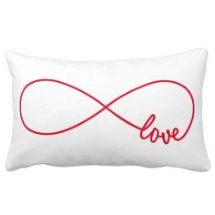 Love forever, red infinity sign, never ending love lumbar pillow