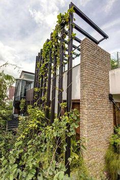 Architektonische Formen-Highlights Kletterpflanzen-Ranghilfe Mauerwerk-Metall-Pfosten