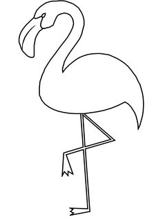 Cute Flamingo Coloring Pages For Kids. Have fun using the flamingo Coloring pictures. Here you can find coloring pictures to print out and color, and all of the Heart Coloring Pages, Unicorn Coloring Pages, Animal Coloring Pages, Coloring Pages To Print, Printable Coloring, Coloring Pages For Kids, Coloring Books, Flamingo Craft, Flamingo Pattern
