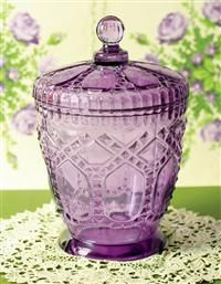 Lucky Amethyst Glass Candy Jar