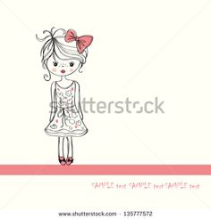 background with the image of a little girl