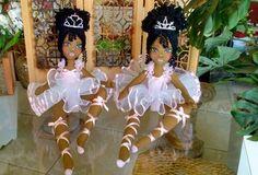 Bonecas de pano.      Bailarina negra.        Soraia Flores