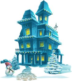 Фото, автор Soloveika на Яндекс.Фотках Cute House, Holiday Pictures, All Things Christmas, Views Album, Building A House, Mansions, Luxury, House Styles, Home