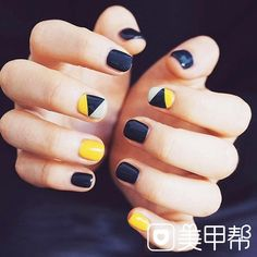 51 Elegant&Sleek Square Nails Inspiration These square nail designs are elegant and sleek at the same time. They are must-have nails when you're going out with friends, on a night out with friends, or even for a romantic dinner with your partner. Square Nail Designs, Nail Art Designs, Funky Nail Designs, Nail Art Diy, Diy Nails, Yellow Nail Art, Yellow Nails Design, Blue Design, Super Nails