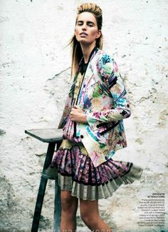 romanian gypsy   Unabashedly Chromatic Couture - This Diver and Aguilar Colorama Editorial is Bold and Colorful (GALLERY)