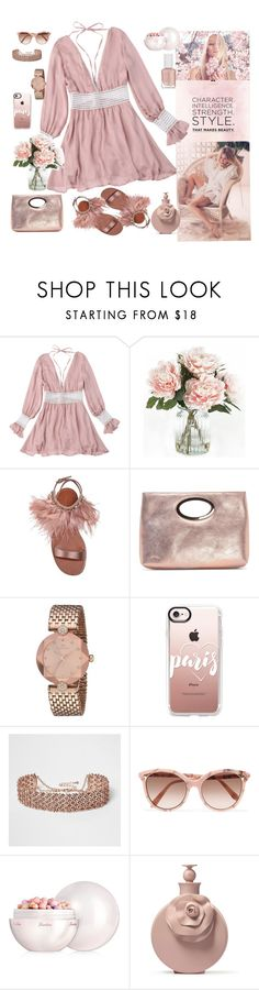 """style that makes beauty"" by nejcka ❤ liked on Polyvore featuring Home Decorators Collection, Miu Miu, Donald J Pliner, Casetify, River Island, Victoria Beckham, Guerlain and Essie"