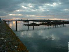Passerelle entre l'Ile de Batz et Roscoff - Bretagne - France