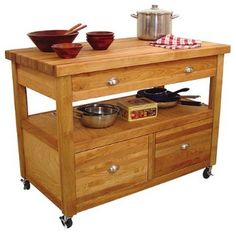 Grand Americana Work Center Kitchen Island - traditional - kitchen islands and kitchen carts - Target