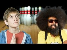 Reggie Watts Plays a Cat Board & Bowls w/ Bo Burnham, Garfunkel & Oates -- All Star Bowling