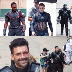 Frank Grillo as an umasked Crossbones at the Captain America: Civil War set. You can hate me later. Walt Disney Company, Marvel Entertainment, Stucky, Just For Fun, Best Funny Pictures, Captain America, Marvel Comics, Hate, Comic Books