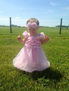 Baby Pink Tutu Dress w/ matching headband!  Perfect Easter/Pageant dress/Flower girl dress/1st Birthday outfit