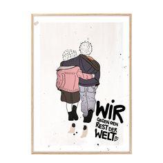 """Kunstdruck """"Wir gegen den Rest der Welt"""""""