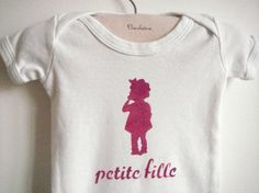 French style Short Sleeve Onesie / Shirt by chocolatineboutique, $15.00