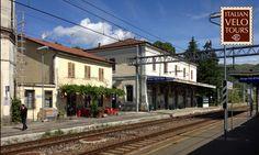 A small italian railway station, Borgo Val di Taro, close to Parma.