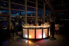 Galactic bar with lighting / www.mmspecialevents.com / M&M Event Rentals Dallas / M&M Event Rentals Chicago / #mmspecialevents