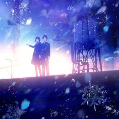 Yukihiro Nakamura Web Fantasy Kunst, Fantasy Art, Wallpaper Space, Falling Stars, Anime Kunst, Anime Scenery, Cute Anime Couples, Anime Artwork, Weird World