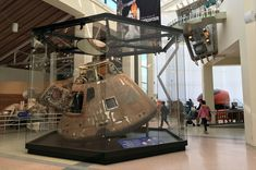 NASA's last Apollo command module to lift off into space has shed its skin to provide a better look at the first U.S. spacecraft to fly a joint mission with Russia. The craft that flew on the Apollo-Soyuz Test Project has traded its Plexiglas cover for a new glass case.