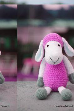 crochet, szydełko, teddy, sheep, misie, owca, Turkusowa Owca, Himalaya Dolphin Baby, friends, owca na szydełku