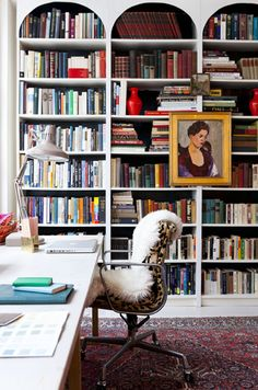 bookshelf in office - jenny komenda interiors