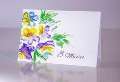 Felicitare 8 Martie - Panselute, Felicitare format C6 cu plic alb Martie, Free Delivery, Ebay