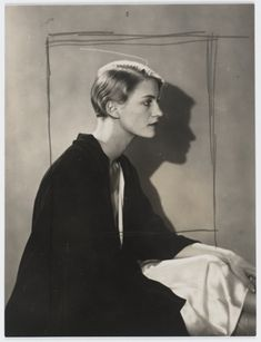 Draw backgrounds in chalk on cardboard pieced together to create a large enough surface... Lee Miller by Man Ray, Paris 1929