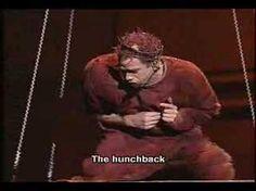 Notre Dame De Paris Le Pape des Fous. Garou as Quasimodo <3 His performance is so amazing.