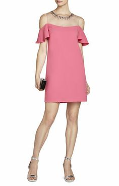 I COULD SEE THIS IF SOMEONE WAS ALSO WEARING A PASTEL PINK OR A CORAL, BUT WOULDN'T WANT EVERYONE IN THIS KIND OF PINK