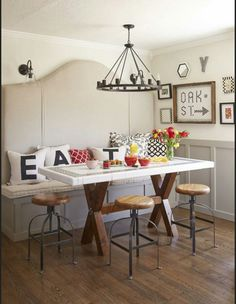 Small Eat In Kitchen Table Ideas. 20 Small Eat In Kitchen Table Ideas. 20 Small Eat In Kitchen Ideas & Tips Dining Chairs Corner Bench Kitchen Table, Eat In Kitchen Table, Small Kitchen Tables, Kitchen Nook, New Kitchen, Kitchen Dining, Kitchen Ideas, Small Dining Rooms, Kitchen Seating