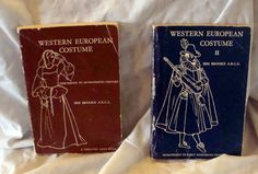 Sale Costume Books Western European Costume 13th Century through the Early 19th Century by RTFX on Etsy
