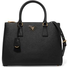 Prada Galleria large textured-leather tote ($2,060) ❤ liked on Polyvore featuring bags, handbags, tote bags, structured tote bag, shoulder strap purses, prada tote, prada and tote handbags