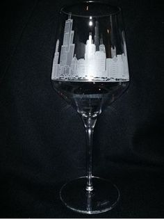 City skylines hand etched by master engravers on Libbey American Made Master's Reserve 16 oz. Wine Glass. Hand deep etched by master craftsmen at Crystal House in Illinois completes this One-of-a-Kind treasure. The slim sidewalls are sleek, yet durable, providing increased mechanical strength, while the ultra-thin beadles edge creates an exquisite beverage presentation. The seamless bowl and stem design provides an upscale look, while dramatically enhancing the strength and torque…