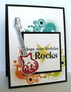Rockin' Birthday Card by Kerri Michaud #Cardmaking, #Birthday, #Masculine