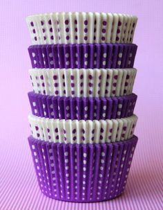 purple polka dots.