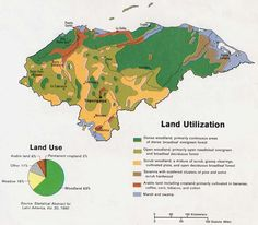 Honduras Land Utilization and Vegetation Map Honduras Travel, Belize Travel, Geography Map, Evergreen Forest, Belize City, Tegucigalpa, Land Use, This Or That Questions, Travelling