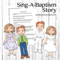 Camille's Primary Ideas: Sing-A-Baptism Story Primary Songs, Primary Singing Time, Lds Primary, When I Am Baptized, Primary Chorister, Church Music, Family Home Evening, Lesson Plans, Baptismal Covenants