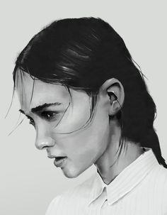 Face Study, Gediminas Skyrius on ArtStation at https://www.artstation.com/artwork/l9aoJ