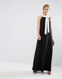 Ted+Baker+Hilarny+Maxi+Column+Dress+with+Bow+Front