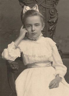 +~+~ Antique Photograph ~+~+ Such a pensive but sweet photograph of a young girl.