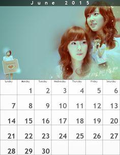 P's Taeyeon Calendar June2015