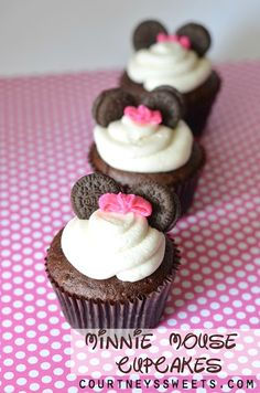 Minnie Mouse Cupcakes for Baby's First Birthday Party