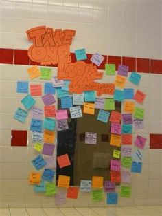 Words of encouragement for high school girls to take right off the mirror.  Easy, cheap...brilliant.